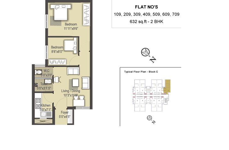 sis marakesh apartment 2bhk 632sqft 1