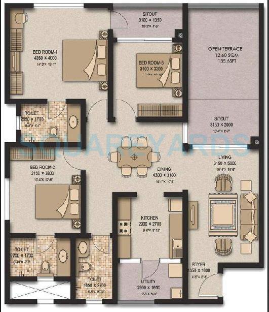 Sobha meritta in kelambakkam chennai project overview for Apartment plans chennai
