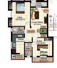 steps stone krishu apartment 2bhk 816sqft1