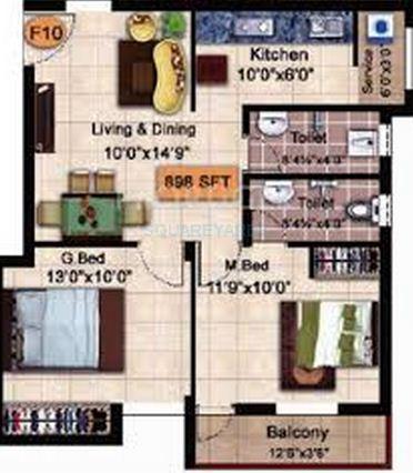 steps stone krishu apartment 2bhk 898sqft1