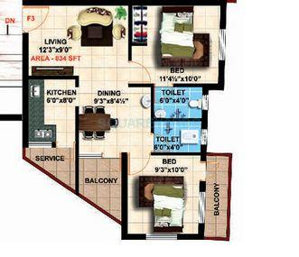 steps stone meenaas apartment 2bhk 834sqft1