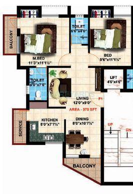 steps stone meenaas apartment 2bhk 979sqft1