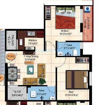 steps stone sai dharaa apartment 2bhk 676sqft1