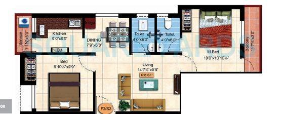 steps stone sai dharaa apartment 2bhk 805sqft1