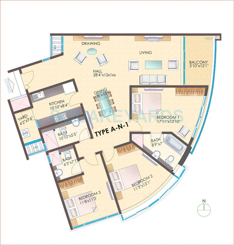 Tvh ouranya bay in kelambakkam chennai project overview for Apartment plans chennai