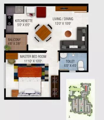urbanrise codename gold standard apartment 1bhk 510sqft11