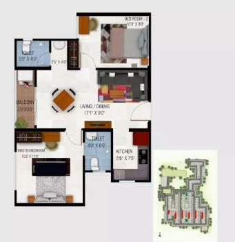 urbanrise codename gold standard apartment 2bhk 764sqft21