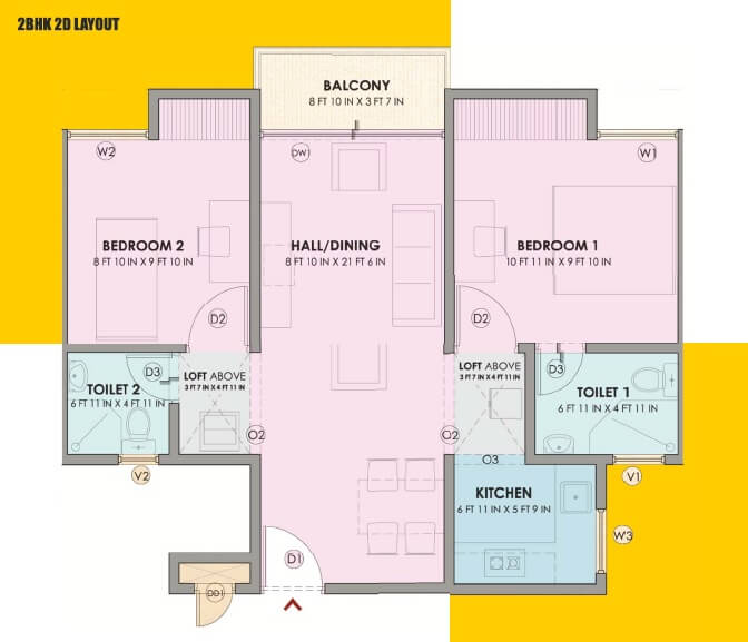 vbhc oragadam apartment 2bhk 792sqft 1