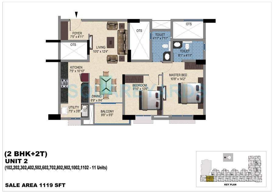 vishwakarma properties skypod apartment 2bhk 1119sqft 1