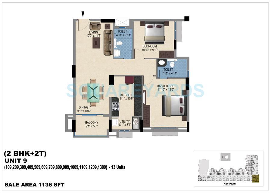 vishwakarma properties skypod apartment 2bhk 1136sqft 1