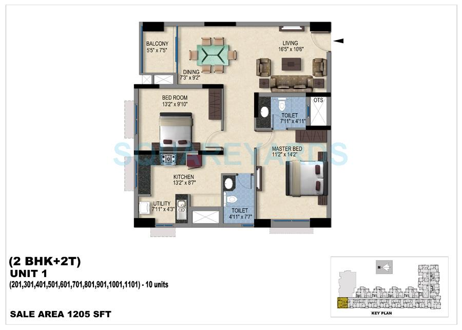 vishwakarma properties skypod apartment 2bhk 1205sqft 1