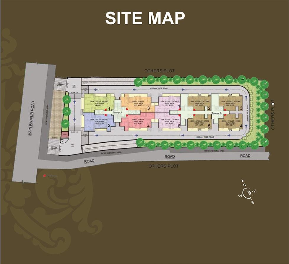 earthcon rajpur greens master plan image4