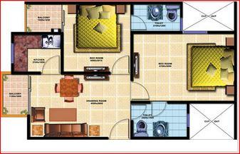 chiranjeevi royal avenue apartment 2bhk 930sqft