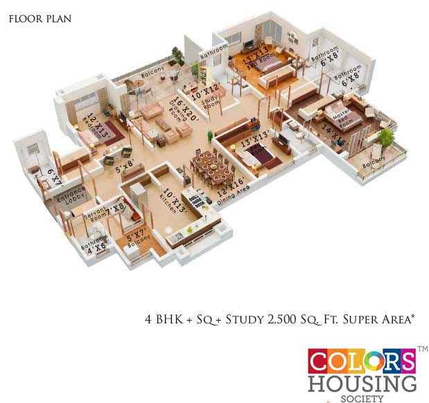 colors housing krisha heights apartment 4bhk sq st 2500sqft 1
