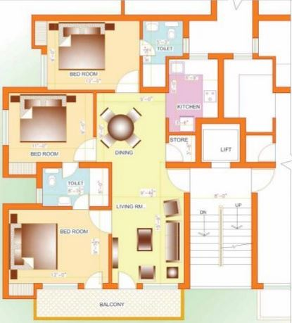 deoasis lifestyle silver nest apartment 3bhk 1320sqft