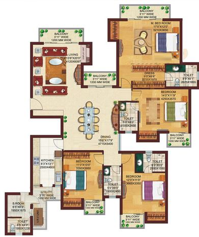 dlf capital greens phase 3 apartment 4bhk 2885sqft