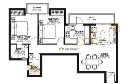 dlf capital greens phase i and ii apartment 2bhk 1200sqft
