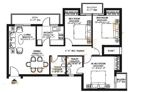 dlf capital greens phase i and ii apartment 3bhk 1415sqft