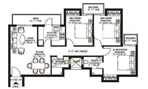 dlf capital greens phase i and ii apartment 3bhk 1420sqft