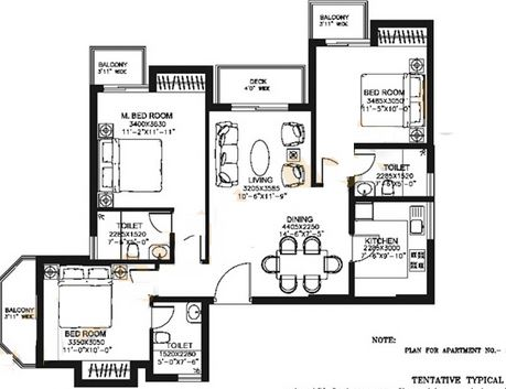 dlf capital greens phase i and ii apartment 3bhk 1475sqft