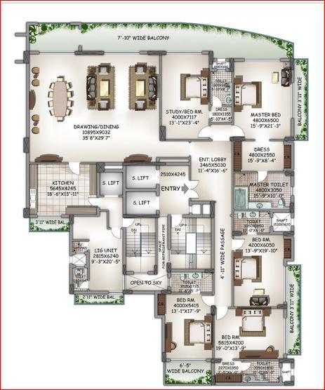 dlf kings court apartment 4bhk 7251sqft