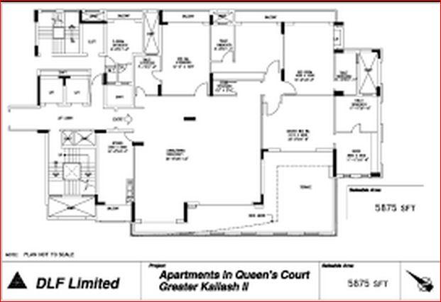 dlf queens court apartment 4bhk 5875sqft
