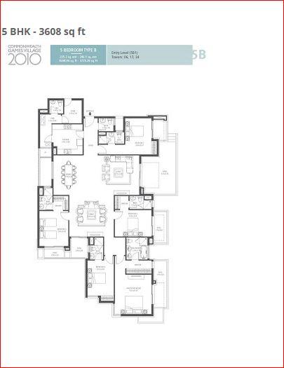 emaar mgf commonwealth games village apartment 5bhk 3608sqft