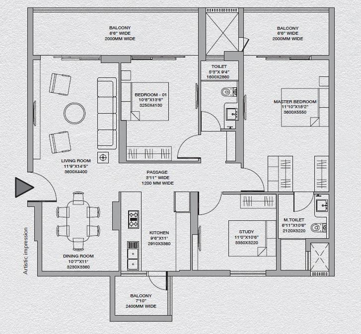 godrej south estate okhla apartment 2bhk 1446sqft 91