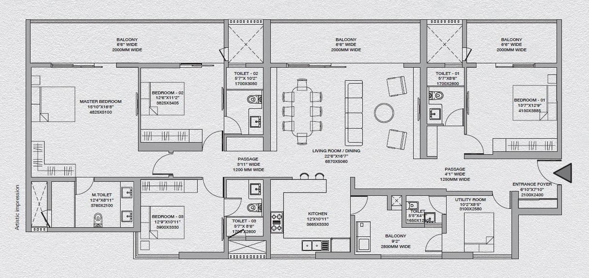 godrej south estate okhla apartment 4bhk 2518sqft 91