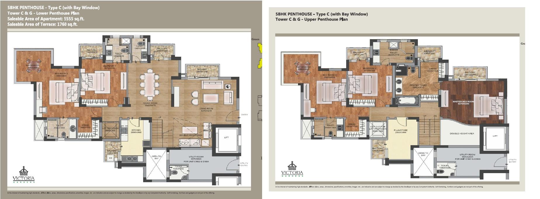 m2k victoria gardens apartment 5bhk 5555sqft