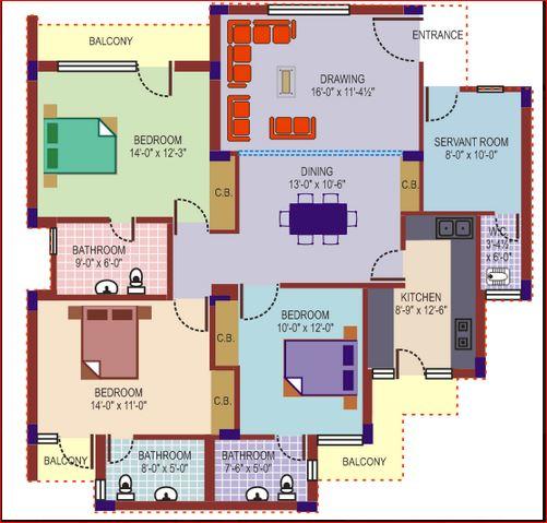 mittals rishi apartments apartment 3bhk 1900sqft