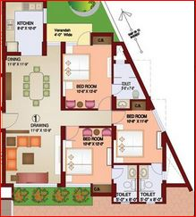 parsvnath paramount apartment 3bhk 1942sqft