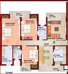 parsvnath paramount apartment 4bhk 2500sqft