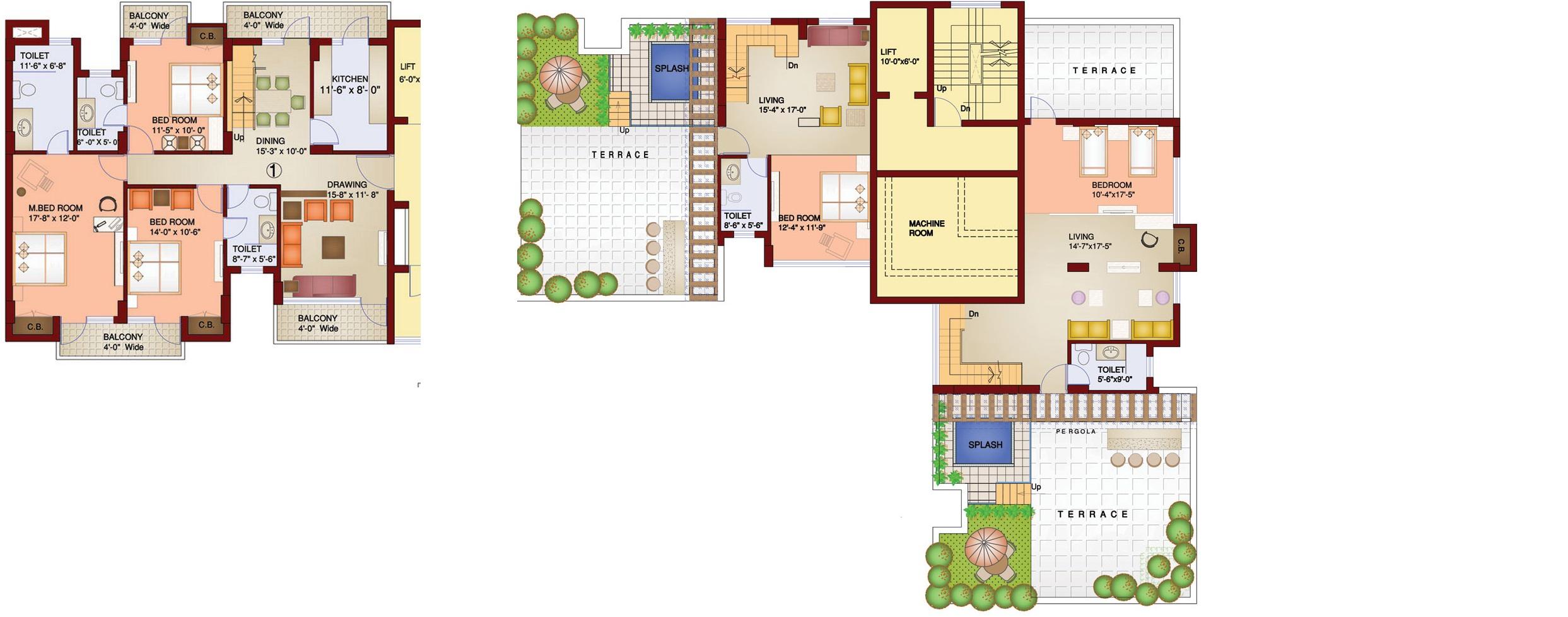 parsvnath paramount apartment 5bhk 3965sqft