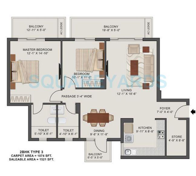 tata value homes new haven apartment 2bhk 1521sqft 1