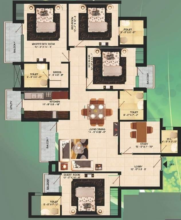 the visava group the urban walk apartment 4bhk st 2100sqft 1