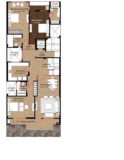 trehan iris aavaas apartment 3bhk 1800sqft