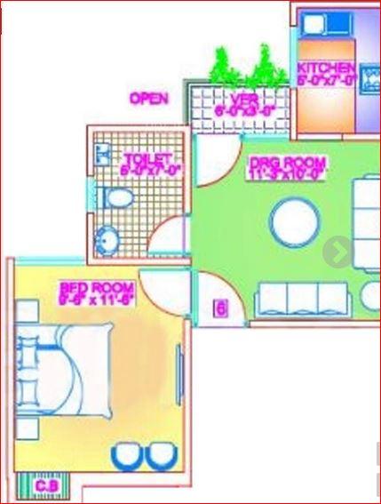 valmax swastik apartment apartment 3bhk 950sqft