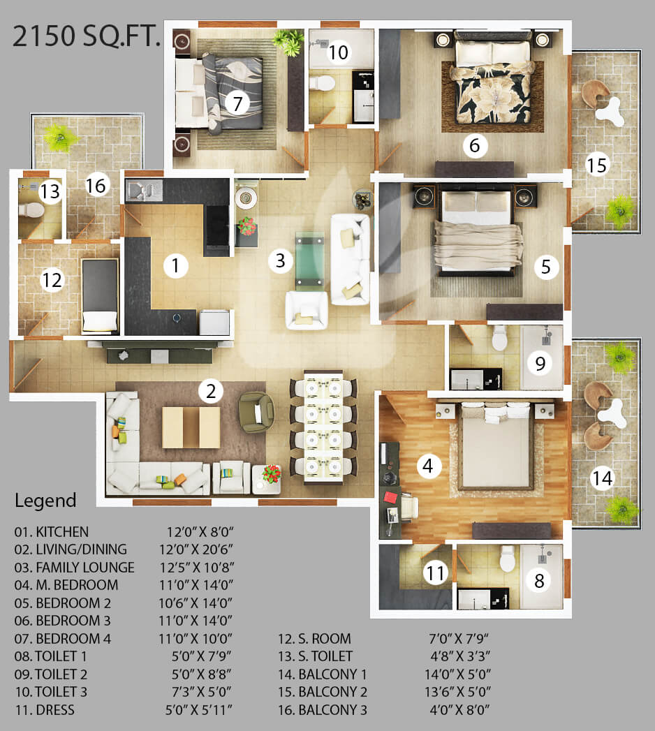 vanshi capital paradiso apartment 4bhk sq 2150sqft 1