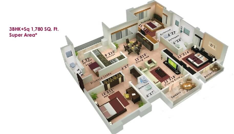 vanshi mulberry apartment 3bhk sq 1780sqft 1