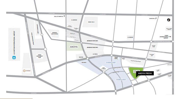 damac akoya fresh location image7