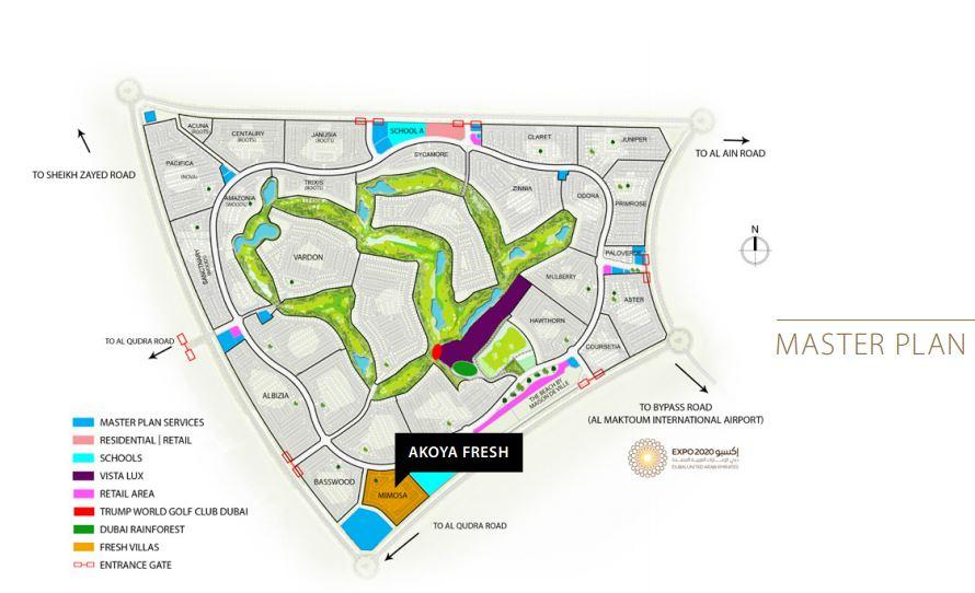 damac akoya fresh master plan image6