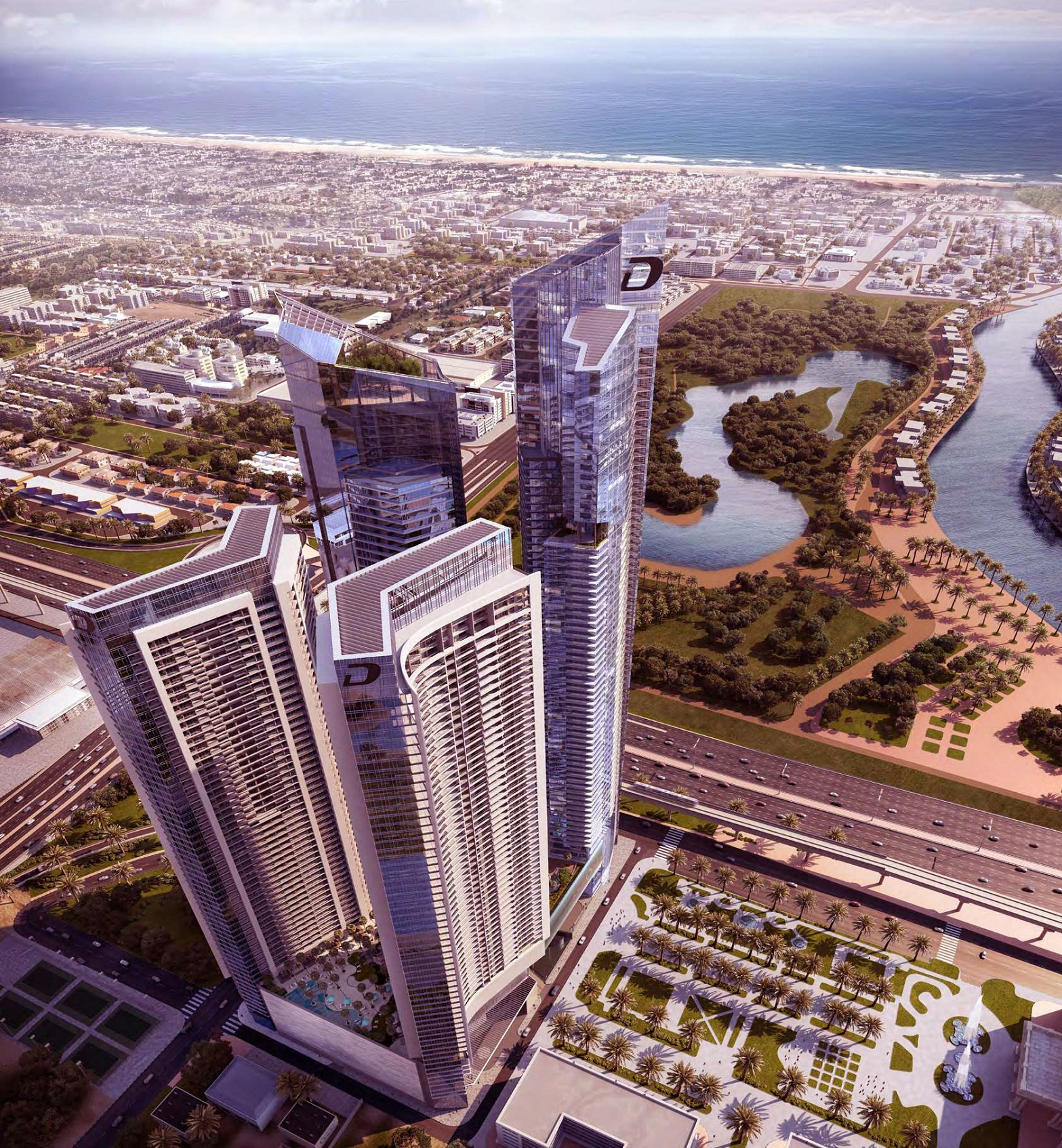 damac aykon heights project tower view2
