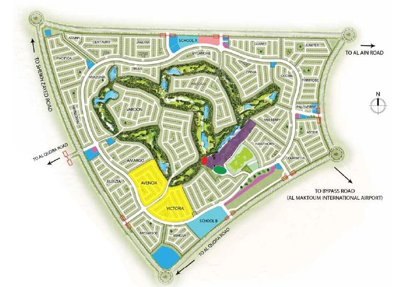 damac sahara villas master plan image6