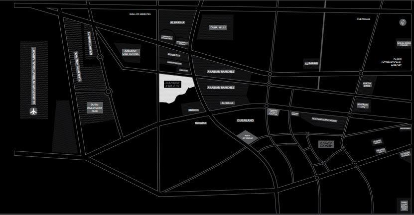 damac trump estates park residence location image8