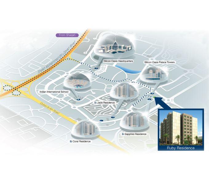 deyaar ruby residence location image7
