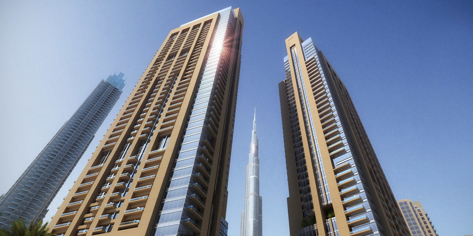 emaar act one act two project tower view1