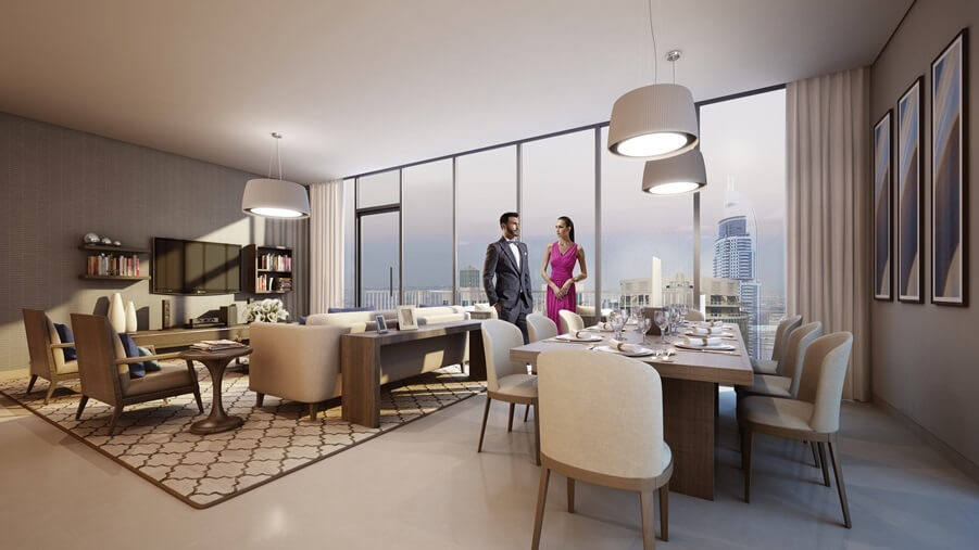 emaar blvd heights apartment interiors7