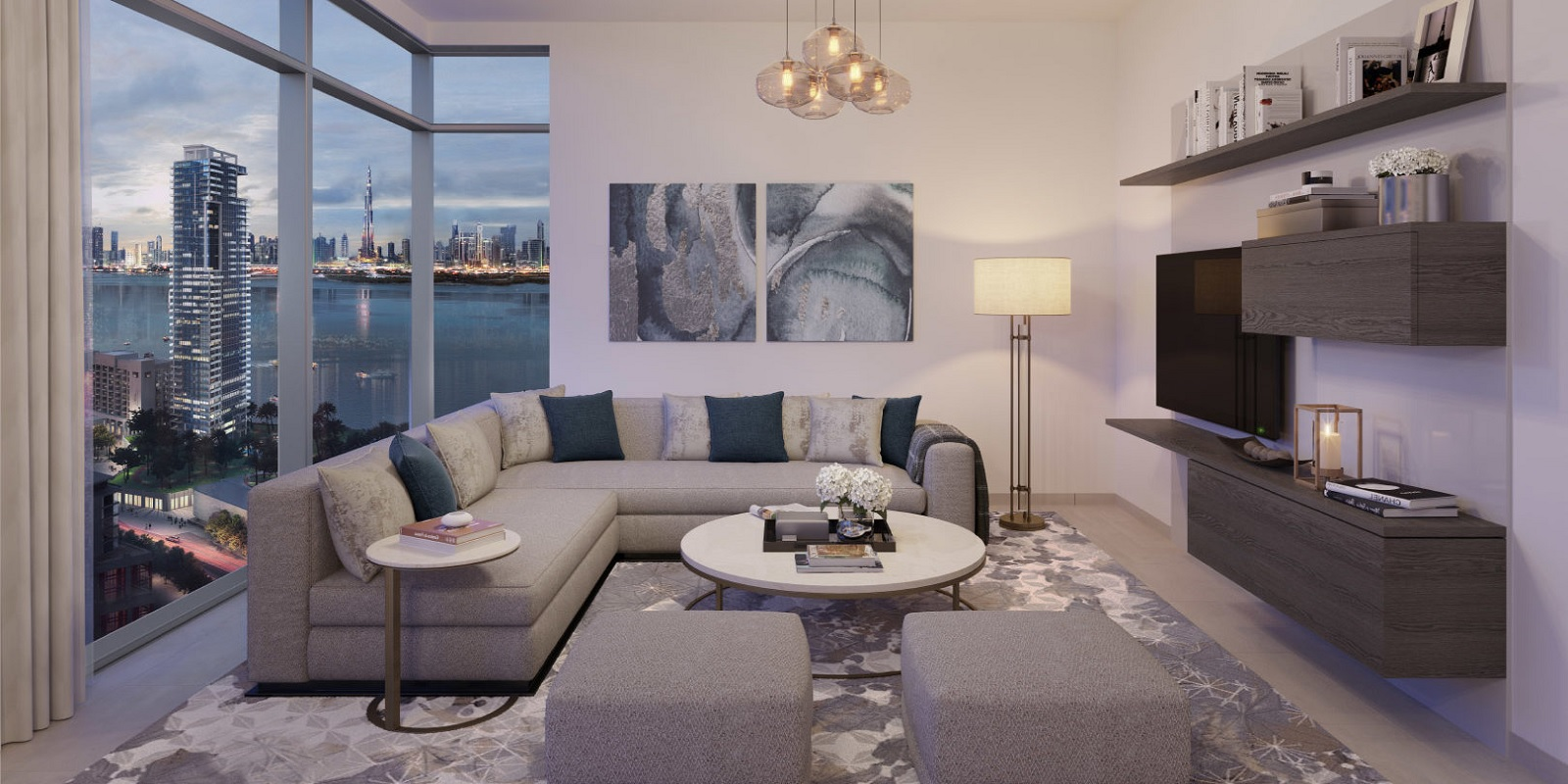 emaar creek rise  project apartment interiors3