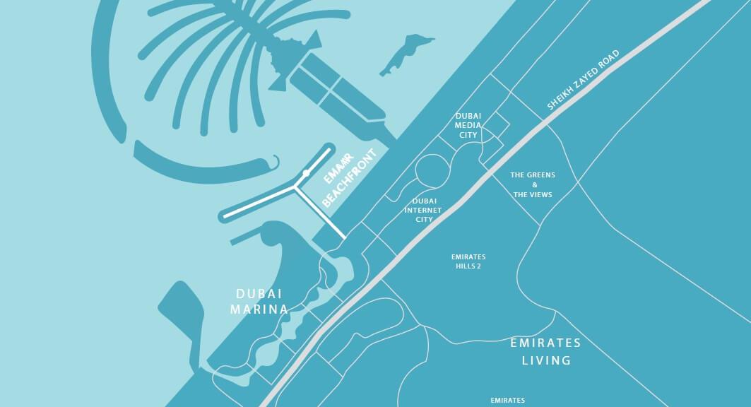 emaar south beach location image4